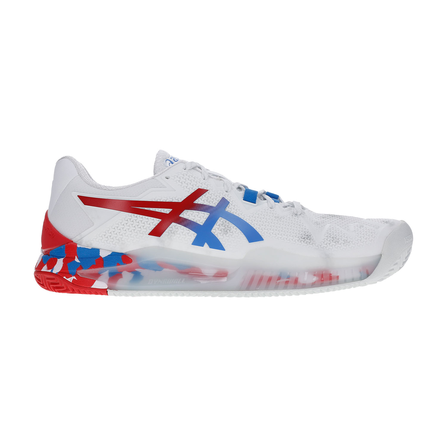 ASICS GEL RESOLUTION 8 CLAY L.E. WHITEELECTRIC BLUE
